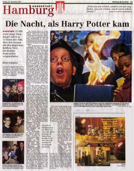 Die Nacht als Harry Potter kam